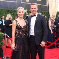 """Julianne and Derek Hough match in black on the #Emmys #redcarpet! #DWTS"" - Primetime Emmy Awards - September 20, 2015 Courtesy: televisionacad IG"